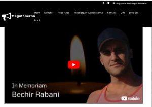 Journalisten Bechir Rabani avlider hasigt efter obekväm rapportering.