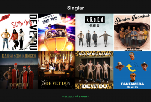 """A couple of days ago, this """"Det vet du"""" translated to """"Ya know that"""" was displayed on my iPad. I checked it out and they featured these albums on Swedish music service Spotify. Note the rich metaphores: The King. The Nudes. And more."""