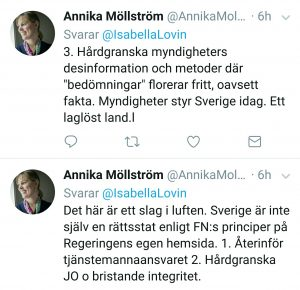 """My tweets try to address the Swedish shortcomings. Of course they don't reply. The Swedish politicians blocked me years ago. Trying to silence me and my case. The Sleeping Beauty Concept. The """"Sustainability"""" concept. Silence. Obedient silence."""