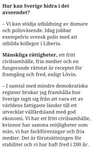 This is what the Swedish government wants to teach the world - complete failure at the police, freedom of speech and corrupt courts. Dagens Nyheter www.dn.se 20171215
