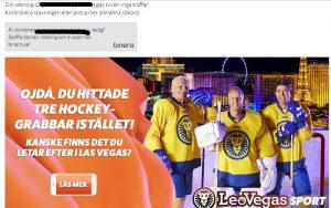"""I höstas gör jag en sökning på ett telefonnummer. Istället visas det här. Tre grabbar som spelar ruff hockey. Även på Kunsthalle Vienna fanns ett verk med """"Tre Bröder"""". Identifiera dem. De förstör mitt liv. Notera referensen till Las Vegas."""
