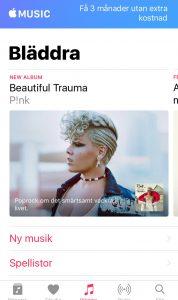 Hösten 2017 besöker jag en kvinnojour. Mina mobiler är i flygläge. Jag berättar delar av min historia, och de hälsar att de tyvärr inte kan hjälpa till. Inte de heller. Efter besöket slår jag på mobilerna. Min iPhone visar automatiskt den här bilden ur Apple Music (som jag aldrig använder, aldrig.): Beautiful Trauma av Pink.