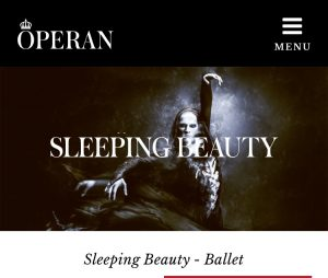 "And here is ""The Sleeping Beauty"", also a ballet at the Royal Swedish Opera 2017. Read the plot: The Princess Aurora will be given a new name. This very name was also given to the major Swedish defence exercise in 2017: Aurora2017. Cute. If you like to get caught in a web of military spiders."