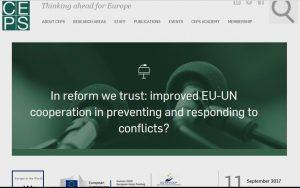 Seminarium på tankesmedja i Bryssel sept 2017. Alla är ense om behovet av reformer. Det vore klädsamt av makthavare att tala ut om verkligheten bakom detta.