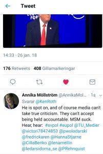 Att en NGO inte kan se igenom medias dimridåer och tillrättalagda sanningar är allvarligt.