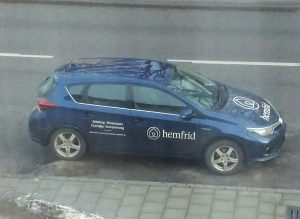 """The car from Hemfrid """"Peace and Quiet"""" is parked outside my window Friday about a week ago. They silenced media - again."""