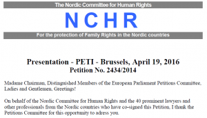 This is a screen shot from the petition presented by Nordiska Kommitten för Mänskliga Rättigheter.