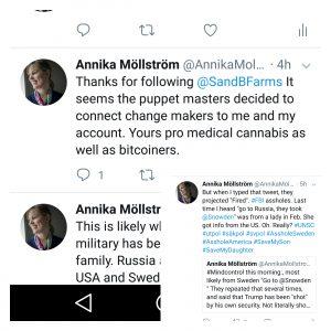 """Se här från mitt Twitter-konto. Det är inte jag själv som primärt vill """"reformer"""". Utan jag utsätts för en rad myndighetsmissbruk och man öppnar Pandoras Box av militära maktmedel och tortyrmetoder för att tvinga mig att skapa PR och väcka opinion för att få något så jävla enkelt som grundläggande mänskliga rättigheter och barns rättighetter. Fattar inte UD och Wallström att allt är en planerad set up? Har de inte lärt sig något alls sedan förskolan, förutom hur man skaffar och behåller makt?"""