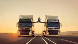 The Volvo Epic Split campaign featuring Van Damme.